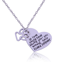Wholesale Paw Foot - Wholesale Silver Dog Paw Print Heart Pendant Necklace Pet Animal foot if love could have saved you ,you would have lived foever NE387