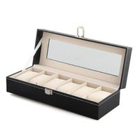 Wholesale YCYS Mens Slots Leather Jewelry Watch Show Case Storage Display Box