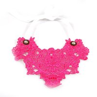 Rose Red Lace Chokers Green Collier Big Atatement Colliers Avec Ceinture Blanc Delicate Craft Neck Jewelry For Women