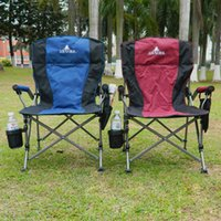 Wholesale Folding Lounge - 18*76Cm Lounge Chairs Beach Folding Fishing Chair Portable Fishing Chairs With Cup Holder For Outdoor Picnic BBQ Camping Party Multi Colors