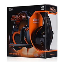 Wholesale Headphones Games - New EACH G2000 Deep Bass Headphone Stereo Surrounded Over-Ear Gaming Headset Headband Earphone with Light for PC LOL Game
