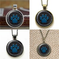 Wholesale Dogs Earring - 10pcs Paw Print Pendant with Dog Bone Border Necklace keyring bookmark cufflink earring bracelet