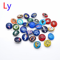 Wholesale Character Buttons - Noosa chunks Pendant Bracelet 18mm Snap button super bowl championship teams 32 interchangeable jewelry for Sports fans NR0150