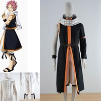 Anime Fairy Tail Natsu Dragneel Black Men Cosplay Costume