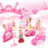 Wholesale Plastic Housings For Electronics - Mini Simulation sewing machine electric small house appliances with barbie toys for kid lovely classic toy the best gift for children