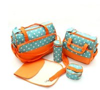 Messenger Bags packing produce - Large capacity Mummy bag multi functional fashion to be produced package Oxford cloth bottle pack five piece combination