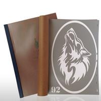 Wholesale Tattoo Stencil Design Books - Wholesale-18 Designs Temporary Airbrush Tattoo Stencil Book Airbrush stencils Template Booklet Book 18