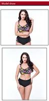 Wholesale Lingerie Red Colour - Add fertilizer Bikini Swimsuit female burst hot springs swimsuit bras panties push up bra 40c bra lingerie