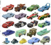 Wholesale Cars Pixar Flo - Pixar Cars Lightning McQueen 1:55 Diecast Alloy Toys Birthday Christmas Gift For Kids Toy The King Sally Mater Fillmore FLo