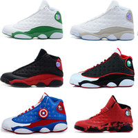 Wholesale Table Basketball Game - 2017 high quality air retro 13 XIII Mens Basketball Shoes bred flints grey toe He Got Game hologram barons sneakers athletic Sports sneakers
