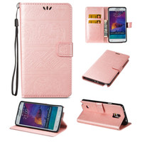 Para Samsung Note 4 Telefone Caixa Galaxy Note 4 Tampa Flip Wallet Cases Stand Covers Cute Elegant Premium couro PU Shell com 2017 Hot