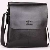 Wholesale Bag For Man Kangaroo - Designer Leather Messenger Bag Male Vintage Crossbody Best Over The Shoulder Bag Kangaroo Brand Mens Bags For Work College Business Bolsas