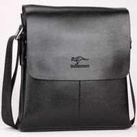 eski üniversite çantaları toptan satış-Tasarımcı Deri Messenger Çanta Erkek Bağbozumu Crossbody Omuz Çantası Üzerinde En Iyi Koleji Iş Bolsas Için Kanguru Marka Erkek Çantaları