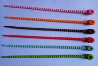 corbata de pan al por mayor-Lazos del bolso del silicón de la categoría alimenticia, gestión del cable, lazo de la corbata del lazo del uso múltiple de la cremallera de la viruta de la torcedura de la cremallera