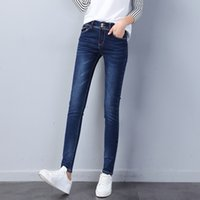 Best Seller Vita alta Elastico Jeggings Jeans per donna Pant Cowboy Tight Blue Solid Wash Skinny