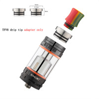 Wholesale Adapter For E Cig - TFV8 510 Adapter Converter for SMOK TFV8 Atomizer Connecter Adaptor Stainless Steel 510 Drip Tips to TFV8 Drip Tips Adapter e cig