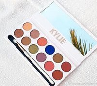 Wholesale Wholesales Resale - factory resale!Kylie The Royal Peach Palette 12 color Kylie Jenners 12color Eyeshadow palette with pen Cosmetics The new 12color Eyeshadow