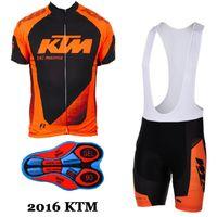 Wholesale bike ktm - 2017 ktm Cycling jerseys Men Wear Suit Bicycle Clothing Jersey Bib Shorts set mtb bike clothing sport jersey cycling clothes