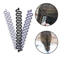 Wholesale Hair Bun Style For Girls - Fashion Hair Braiding Braider Tool Roller With Magic hair Twist Styling Bun Maker Hair Braiders for Women&Girls Free Shipping ZA1982