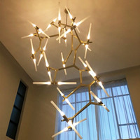 Wholesale Office Light Switch - 2017 new Creative Branch Arts Roll Hill Agnes Pendant Light lamp Modern Branch Agnes Light Living Room Restaurant Art Decoration Lamps
