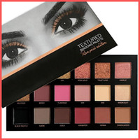 Wholesale Waterproof Free - Free Shipping by ePacket 18 Colors Eyeshadow Palette Rose Gold Textured Palette Makeup Eye shadow Beauty Palette Matte Shimmer with Gifts