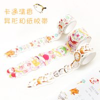 Vente en gros - 2016 Creative Japanese Cartoon Cat Stickers décoratifs en forme de Washi Tapes DIY Scrapbooking Stickers Planner Masking Craft Tape