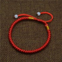 Wholesale Chinese Bracelets Men - Mdiger Classic Red String Rope Bracelet Lucky Red Chinese Braided Beads Bracelets Gift Fashion Black Waistband Bracelets Men