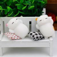 Wholesale Bear Cat Rabbit - Cute 3D Soft Cartoon Squishy Toys Cat Panda Rabbit Seal Polar Bear Squeeze Stretchy Stress Relieve