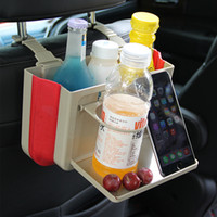 Wholesale Can Holder For Car - Auxeo Folding Car Garbage Can,Portable Creative Hanging Multifunction Finishing Box and Storage Box with Cup Holders for Cars