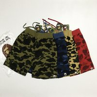 Wholesale-Men's Brand Hip-hop Camo Short Pants Sell Like Hot Cakes Hommes Shark Head Japon Luminous Camouflage Loves Trous Flight Flight Zip