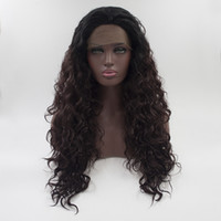 Afro Hair Sintético Perucas Long Dark Brown Mixed Black African Kinky Curly Deep Wave Wigs For Black Women