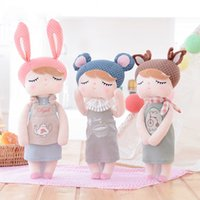 Vente en gros 33 / 43CM Cute Plush Dolls Bunny Rabbit Peluches Jouets Farcies Bonecas Metoo Doll Pochette en tissu doux Baby Kids Birthday Gifts
