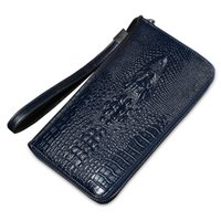 Wholesale Western Purses Wallets - Wholesale- 2016 new western brand long men's wallet zipper phone bag design crocodile purse coin clutch wallet free shipping