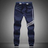 Wholesale Mens Black Spandex Pants - New Fashion Mens Casual Long Pants Plus Size M-5XL 2017 Casual Men Loose Pants Male Sweatpants sport joggers