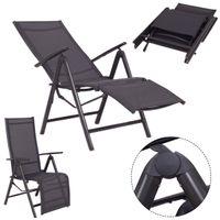 открытый патио стулья оптовых-Регулируемый Складной Шезлонг Кресло Открытый Патио Мебель Новая