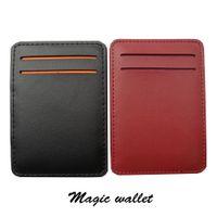 Wholesale Magic Cards Wholesale - Wholesale- Hot sale New arrival high quality PU leather men magic wallets Korea fashion mini purses 10.5CM*7.3CM*1CM Model: XF144