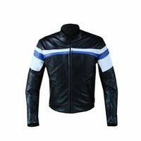 Wholesale Race Leather Jacket - Motorcycle BM Men's Motocross Riding PU Leather Coat Winter Windproof Warm Motorcycle Service Jacket Racing Clothing with 5pcs Pads