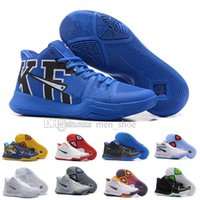 Wholesale Tie Dye Silks Fabric - Newest Kyrie 3 Irving Glod Tie Dye Bhm Men Basketball Shoes Black Ice White Chrome Crossover Huarache Cavs Kyrie Irving 3s Sports Sneakers