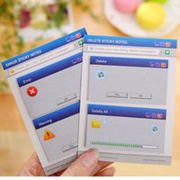 Vente en gros - Creative Computer System Shape Memo Pad Diy Diary Sticky Notes Fournitures de bureau