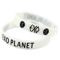 1 Pc Kpop Exo Bracelet GOT7 Monsta X Bracelet en Silicone Lumineuse Bracelets