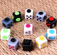 Wholesale First Package - New 11 Colors Magic Fidget cube the world's first American Anti-anxiety Decompression Toy Adults Stress Relief Kids Gift With Retail package