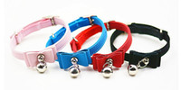 Wholesale wholeslae Pet Products Fashion Bowtie Velvet Breakaway Safety Small Dog Cat Collars with Bell in Many Colours