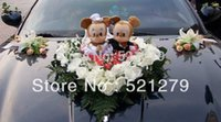 Wholesale Stuff Wedding Couple - Wholesale- Free shipping 1couple 24cm stuffed Mickey and Minnie Mouse plush soft toys doll 1 couple,Mickey and Minnie toys for wedding