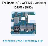 Wholesale Ram Board - Wholesale-1pcs For Xiaomi Redmi Mi Hongmi 1S 2013029 WCDMA 1GB RAM 8GB ROM Mainboard Motherboard Logic Board Replacement Used Original