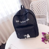 Wholesale New Look Bags Wholesale - printed bags 2017 hot sale cute and popular new backpack LOOK WHAT LOOK casual canvas bag