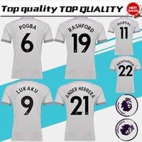 Wholesale 3xl Blacks Jersey - POGBA third Soccer Jersey 17 18 have Premier League patches LUKAKU 3rd soccer shirt 2018 RASHFORD MARTIAL Football uniforms Sales S-3XL