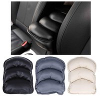 Wholesale Center Console Arm Rest Universal - Universal Car Seat Armrests Cover Vehicle Center Console Arm Rest Seat Box Pad Protective Case Soft PU Mats Cushion