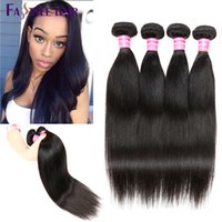Wholesale New Arrival Fastyle Brazilian Straight Hair Extensions Natural Black pc UNPROCESSED Peruvian Malaysian Indian Virgin Human Hair Bundles