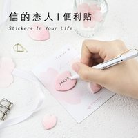 Vente en gros- 30pages / pc Kawaii FlowerLeaves Memo Pad Notes collantes Bookmark School Office Supply Note Paper Scrapbooking Sticker