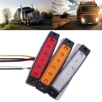 12V 6 SMD LED Car Bus Truck Trailer Larry Side Marker Indicator Light Luminária lateral